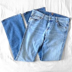 """7 For All Mankind """"A"""" Pocket Flare Jeans"""